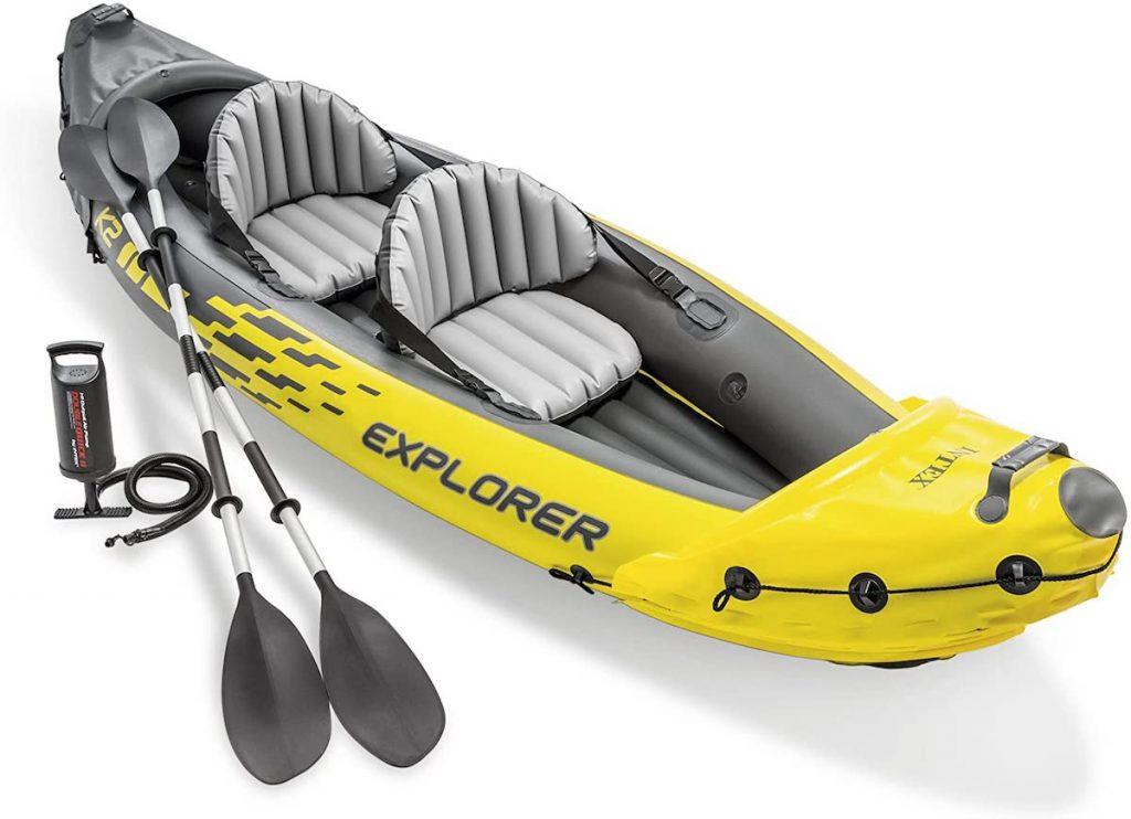 Intex Explorer K2 Kayak, 2-Person Inflatable Kayak in yellow