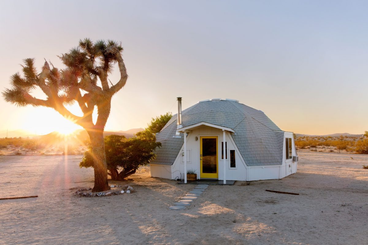 Dome accommodations in the middle of a desert