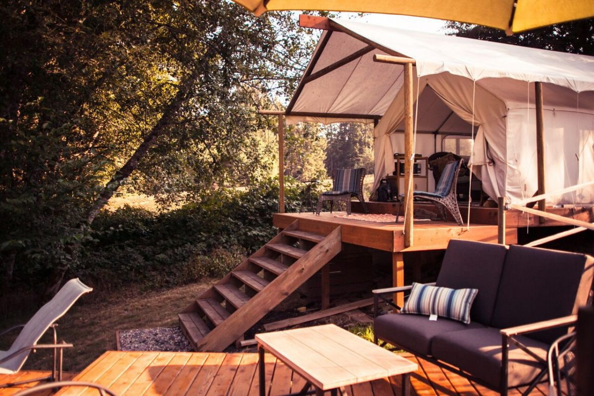 Open-air accommodations with Heaven and Earth Retreats