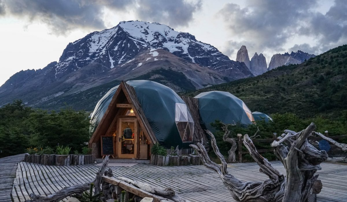 Glamping on EcoCamp grounds