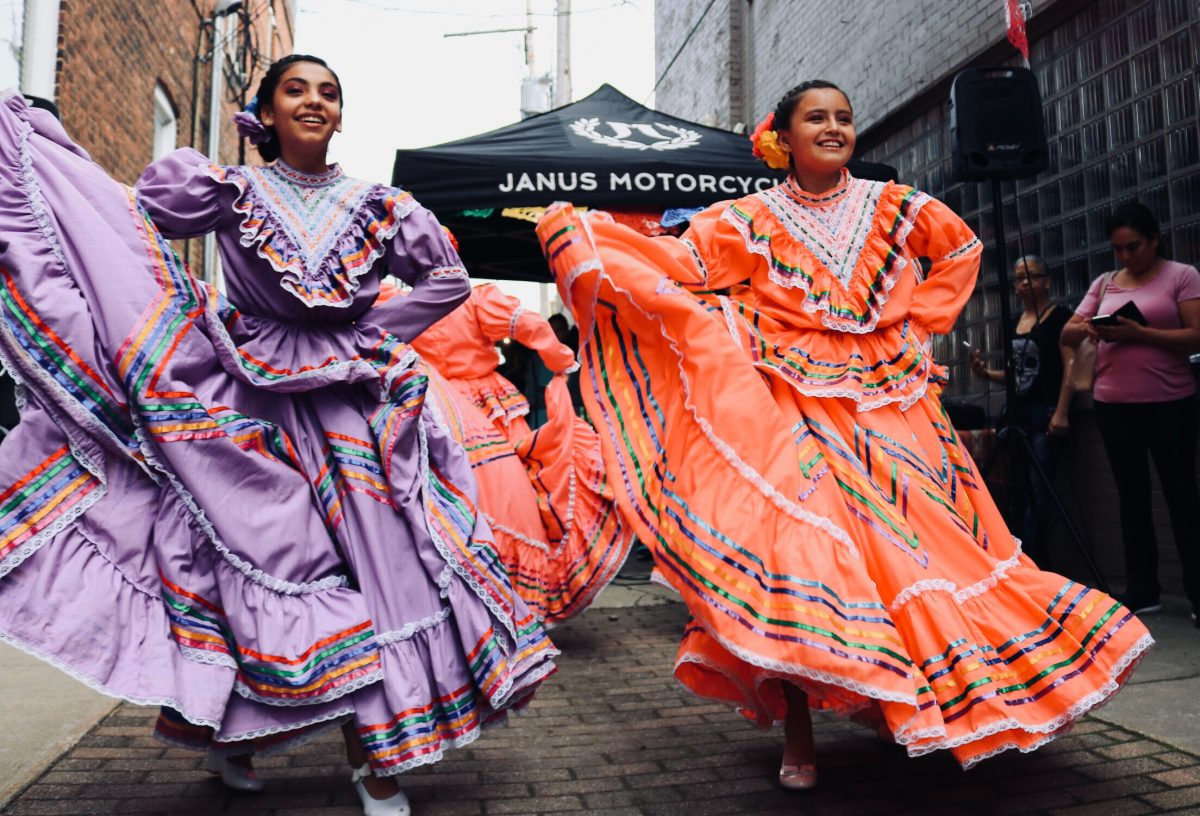 Street dancing in Mexico during a festival