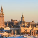 Seville Sunset over Cathedral of Saint Mary of the See