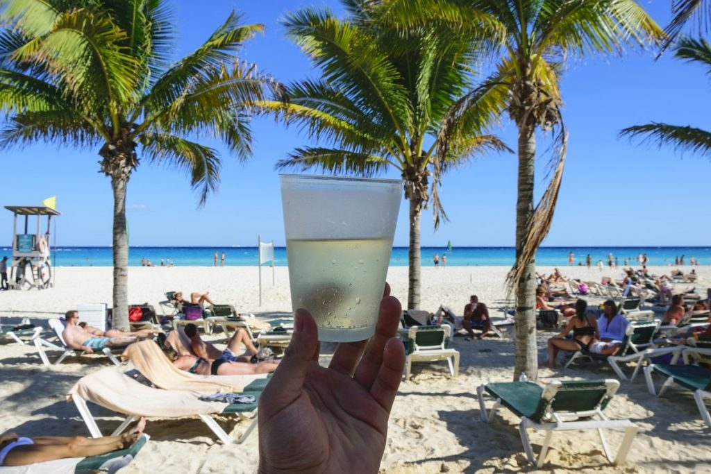 Photo of a summer drink in Cancun Mexico