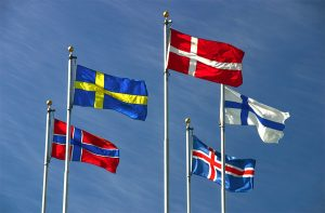 nordic country flags
