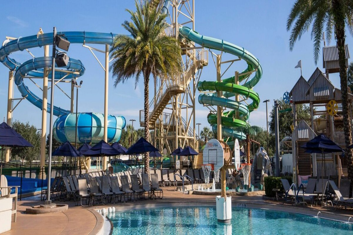 The water park at Gaylord Palms Resort & Convention Center, Kissimmee, Florida