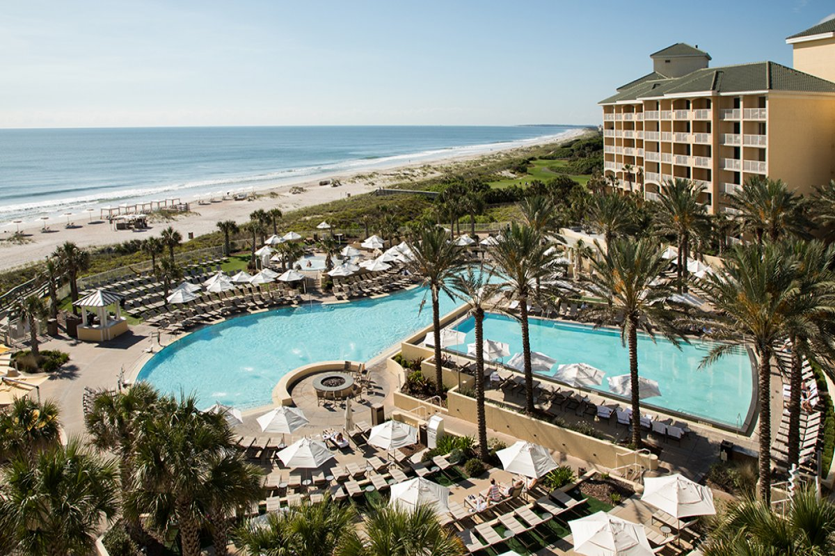 An aerial shot of Omni Amelia Island Plantation Resort, Fernandina Beach, Florida