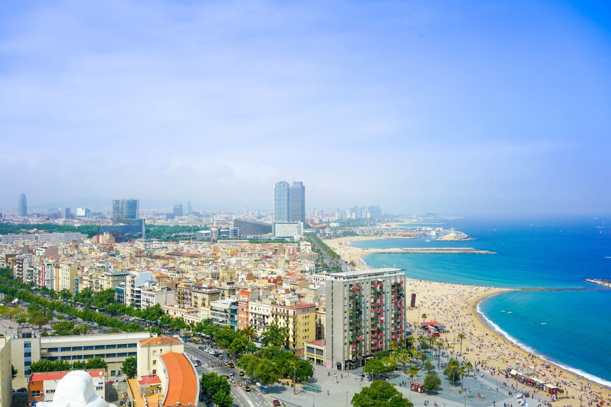Beautiful skyline view of Barcelona