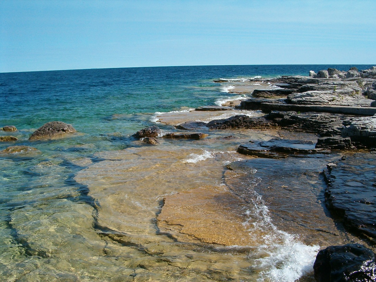 Rocky shores of Bruce Peninsula National Park, Ontario, Canada