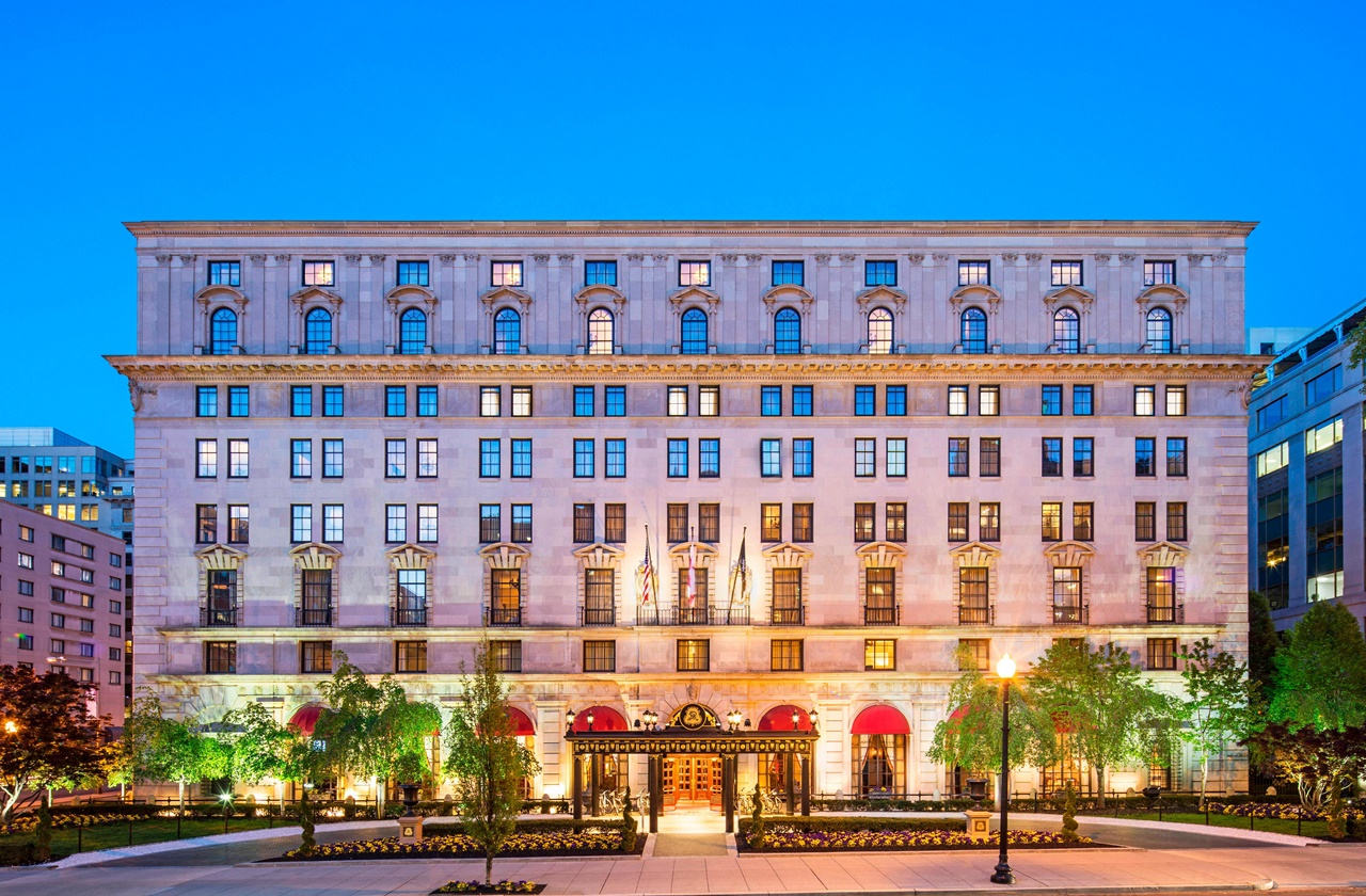 The St. Regis Washington, D.C., one of the Marriott hotels